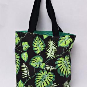 Torba na zakupy shopperka eko liście monstera ziel