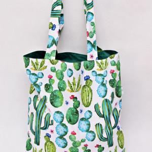 Torba na zakupy shopperka eko shoper kaktusy
