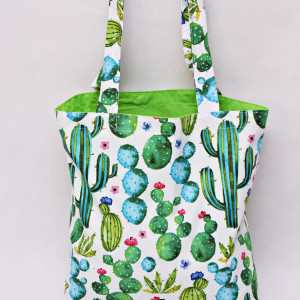 Torba na zakupy shopperka eko siatka kaktusy