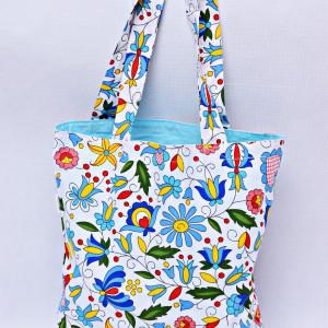 Torba na zakupy shopperka eko torba kaszubska blue