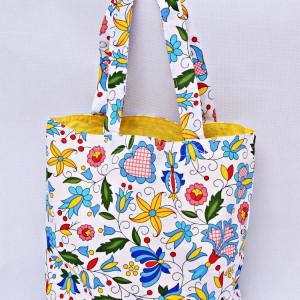 Torba na zakupy shopperka eko torba kaszubska żółt