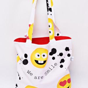 Torba na zakupy shopperka eko torba shoper emoji