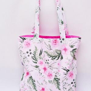 Torba na zakupy shopperka shoper in garden kwiaty