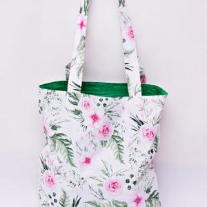 Torba na zakupy shopperka shoper kwiaty in garden