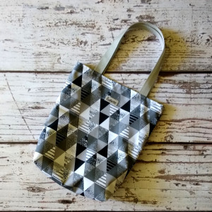 Torba na zakupy szare trójkąty