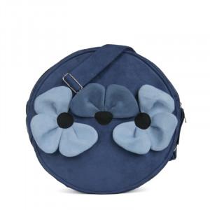 Torebka okrągła - Trzy kwiaty niebieskie