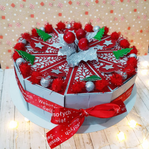 Tort papierowy świąteczny 2
