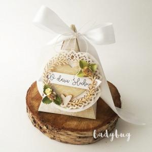 Tort - pudełko ślubne
