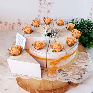 Tort z papieru dla Pary Młodej na słodycze-mały 7