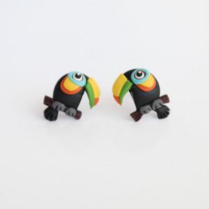 Tukany - lekkie kolczyki wkręty