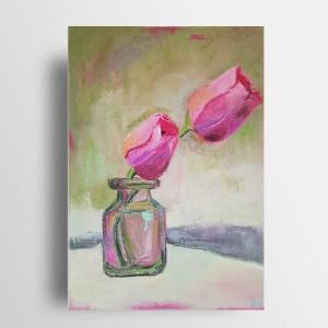 Tulipany  -praca wykonana pastelami