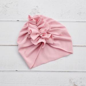 Turban, czapka róż kwarcowy