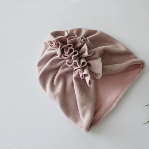 Turban podwójny welur pastelowy róż  rozmiary