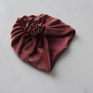 Turban podwójny welur wrzos rozmiary