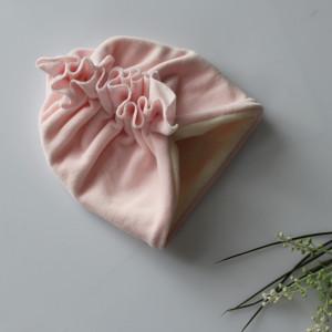 Turban polar zima welur róż klasyczny rozmiary