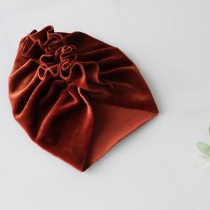 Turban welur ceglany,  miedź rozmiary