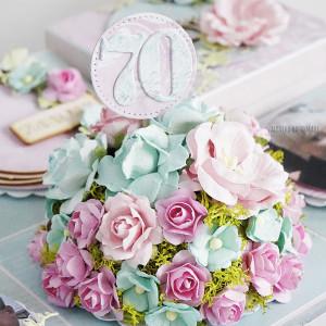Urodzinowy box z kwiatami wg ustaleń