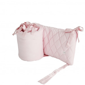 Velvet Pikowany ochraniacz do łóżeczka różowy