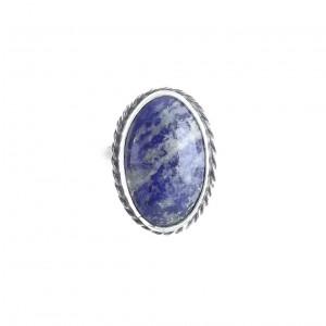 Vintage Pierścionek lapis lazuli w srebrze