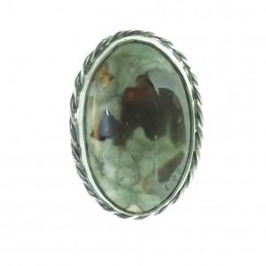 Vintage pierścionek z  jaspisem rozmiar 19