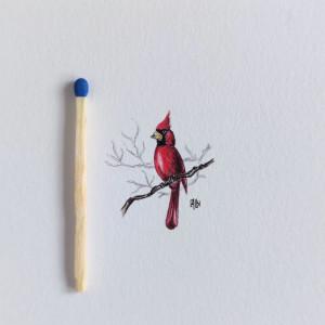 Vintage ptak, Kardynał szkarłatny