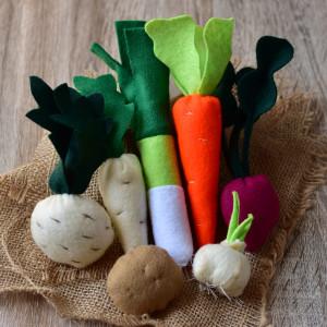Warzywa z filcu / Jedzenie filcowe