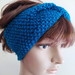 Wełniana opaska typu turban