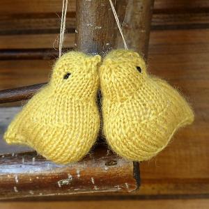 WEŁNIANY PTASZEK #żółty