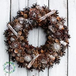 Wianek świąteczny, bożonarodzeniowy na drzwi nr.02