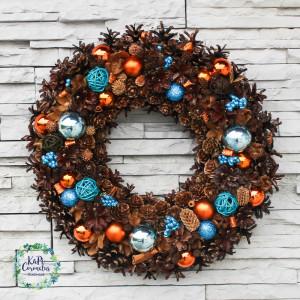 Wianek świąteczny, bożonarodzeniowy na drzwi nr.10