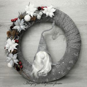 Wianek świąteczny, bożonarodzeniowy, skandynawski