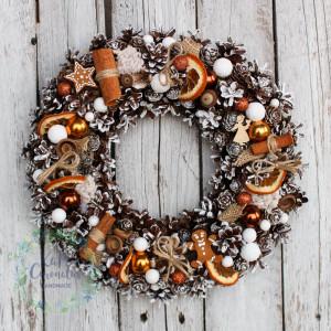 Wianek świąteczny na drzwi 2