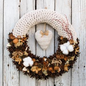 Wianek świąteczny na drzwi 5