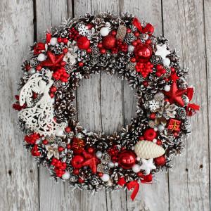 Wianek świąteczny na drzwi 9