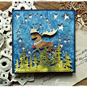 Wieczorową porą - kartka bożonarodzeniowa