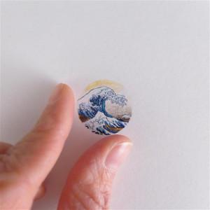 Wielka fala w Kanagawie, miniatura