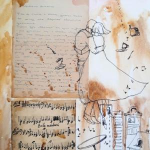 """""""WIELKA MIŁOŚĆ"""" collage, kolaż, stary list miłosny"""