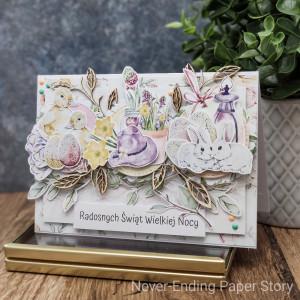 Wielkanocna pastelowa kartka