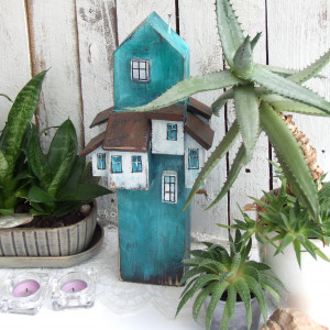 Wieża - drewniana belka dekoracyjna