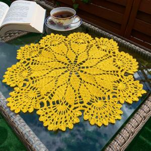 Wiosenna żółta serweta