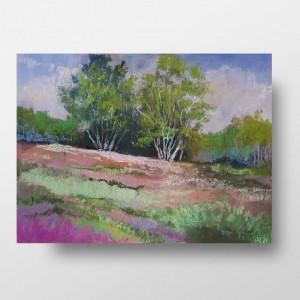 Wiosenne drzewa -praca wykonana pastelami suchymi