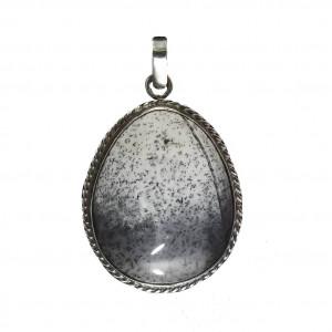Wisior agat dendrytowy w srebrze