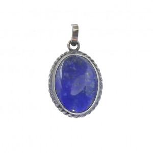 Wisior w stylu vintage srebro i lapis lazuli