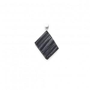 Wisiorek czarny turmalin w srebrze
