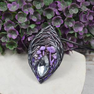 Wisiorek Magic forest - fiolet i srebro