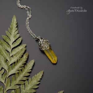 Wisiorek talizman żółty kryształ górski I