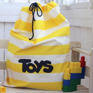 Worek na zabawki, organizer bawełniany