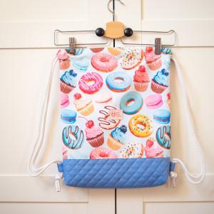 Worek plecak Donut, Pączki wodoodporny Kieszonka