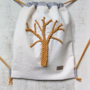 Worek plecak musztardowe drzewo