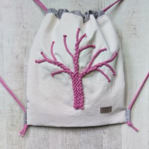 Worek plecak różowe drzewo